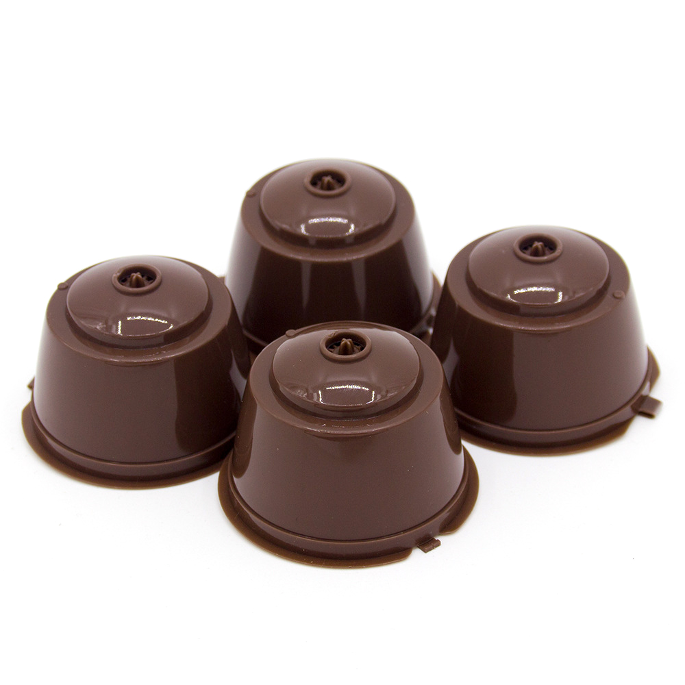 4pcs Reusable Dolce Gusto Coffee Capsule Plastic Capsule Refillable  Compatible Refilling Filter Coffeeware Gift Taste Sweet