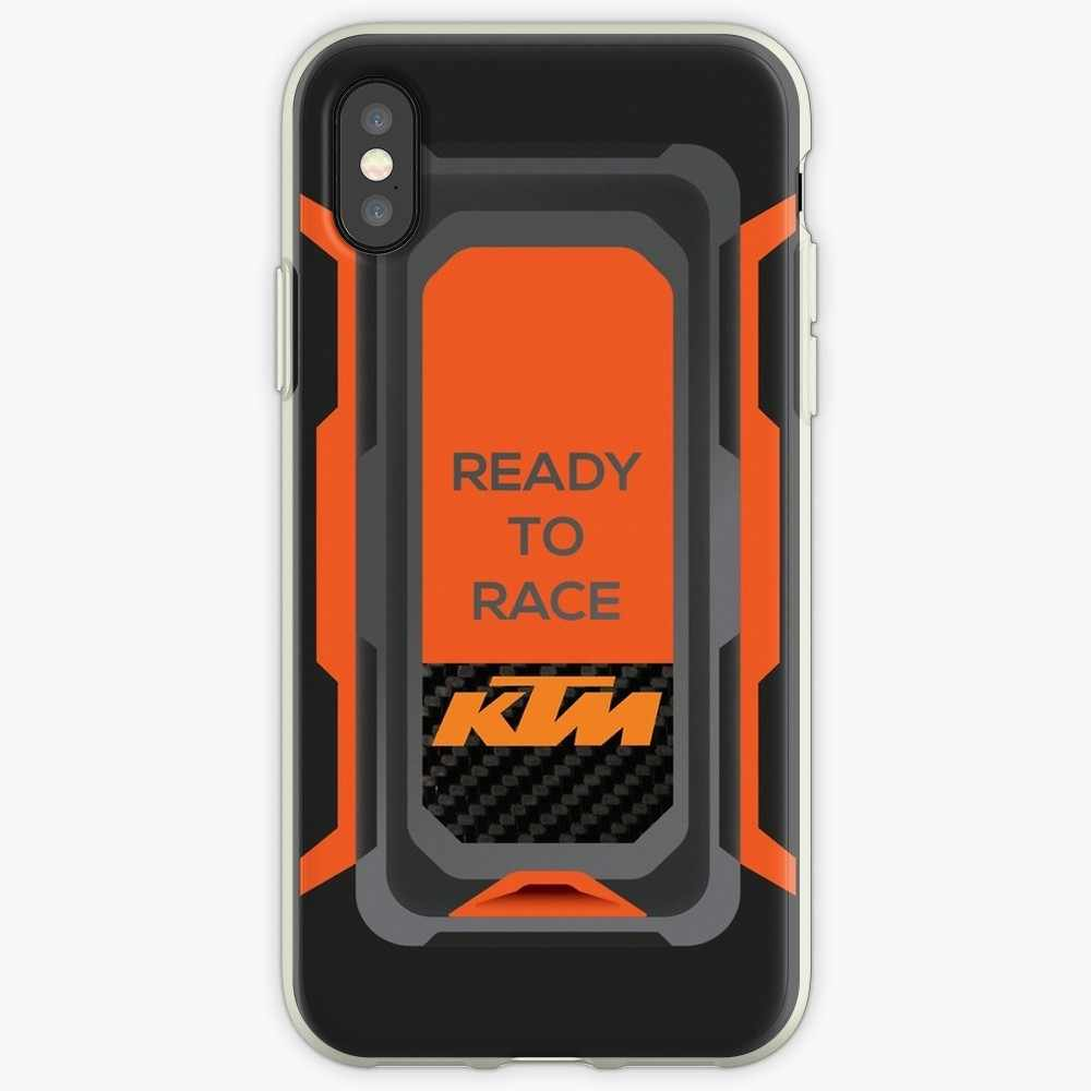 KTM Balap Transparan Case untuk iPhone X Xsmax XR 11 Pro Max Case untuk iPhone 6 6 S 5 5 S 7 Plus 7 Plus iPhone 7 8 Case
