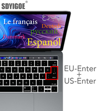 European version For macbook pro 13 A2159 A1990 A1707 A1989 Laptop Keyboard Cover French German Spanish Italian Swiss EU+US key new for macbook pro 13 a1278 topcase palm rest keyboard backlit us uk euro eu german french danish russian spanish 2011 2012