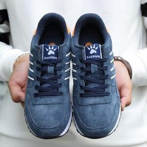Image 5 - Valstone Mannen Lente Sneakers Echt Lederen Zomer Mocassin Waterdichte Rubberen Antislip Schoenen Comfortabele Lopen Schoenen Grijs Blauw