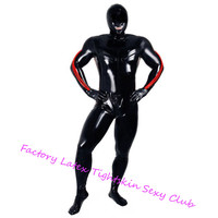 Latex Rubber Bodysuits with Hoods Mask&Socks Latex Rubber Full Bodysuits Sexy Costume zentai exotic apparel