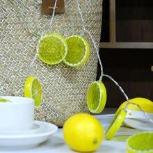 Креативный лимонный светодиодный светильник теплый белый сад