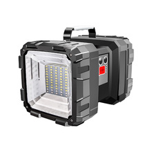 Bright Double Head Flashlight Searchlight USB Rechargeable Portable Outdoor Emergency Light Work Light new