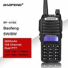 UV82 VHF UHF جهاز الإرسال والاستقبال لاسلكي اتجاهين راديو تخاطب لاسلكي هام راديو Comunicador uv 82 Baofeng الأشعة فوق البنفسجية 82 لاسلكي تخاطب