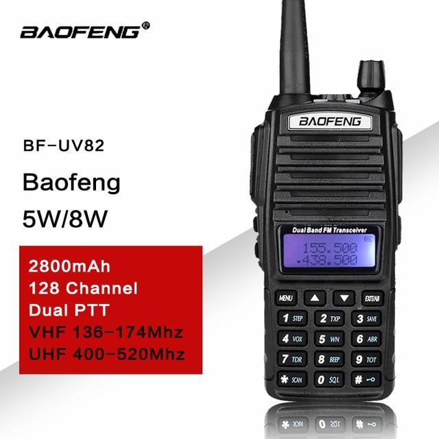 UV82 transmisor VHF UHF Walkie talkie Radio de dos vías Walkie Talkie Radio de jamón Comunicador uv 82 Baofeng uv 82 Walkie Talkie