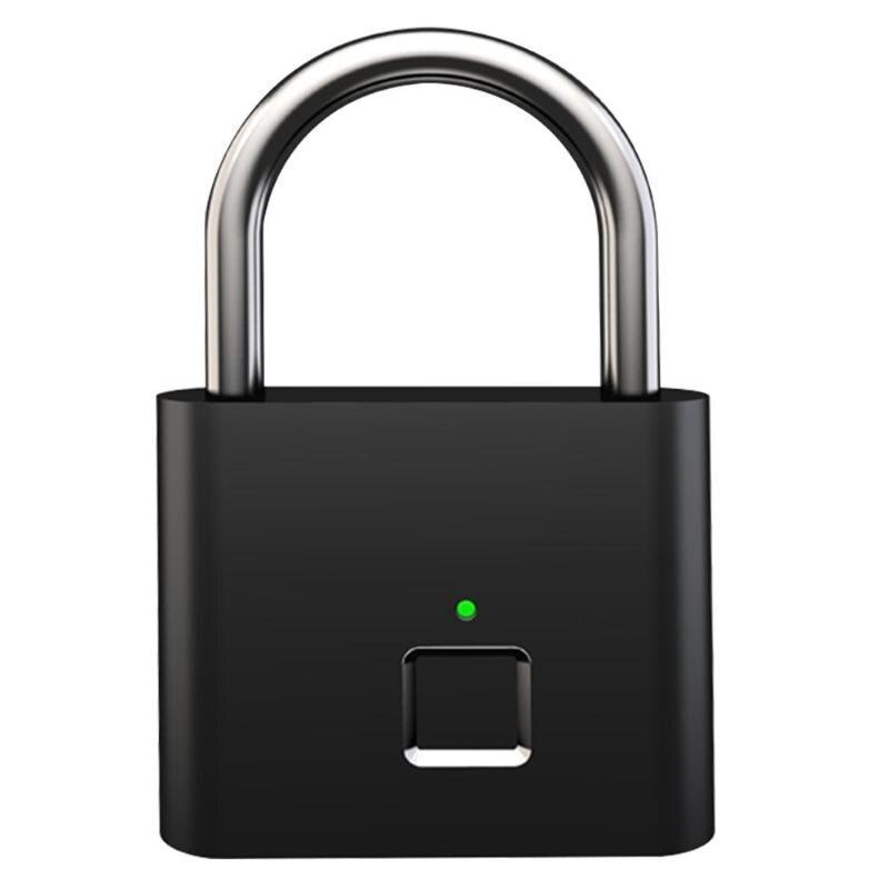 Candado de huella digital sin llave cerradura recargable USB para cajón de puerta maleta Control de Acceso solenoide de montaje de liberación 12V 0.4A Puerta de cierre electrónico