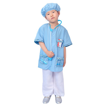Purim Unisex Kids Doctor Nurse Costume veterinario dentista Dr Uniform Cosplay Halloween Carnival Party Fancy Dress 1