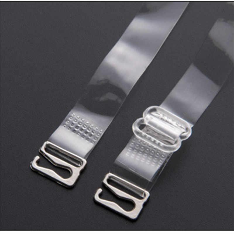 شفافة غير مرئية الكتف الأشرطة قابل للتعديل العشير الاكسسوارات المعدنية أشرطة حمالات الصدر حزام النساء مرونة مريحة