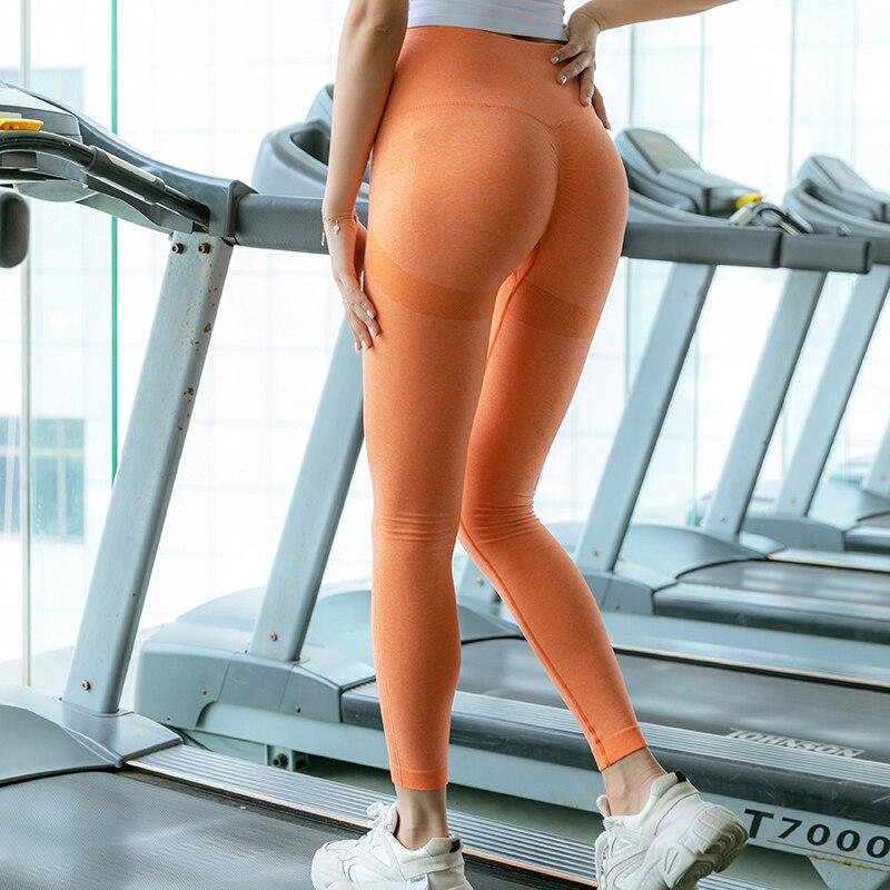ORANGE-Seamless Yoga Leggings Women Sportwear
