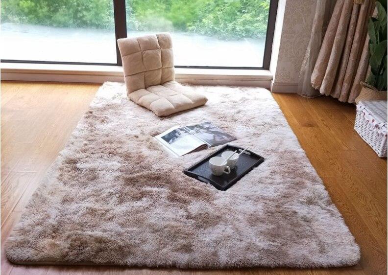 Modern Pure Plush Carpet Living Room Large Size Slip-proof Bedroom Study Corridor Soft Carpet Bedroom Cushion For Children