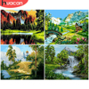 HUACAN Painting By Number Landscape DIY Pictures By Numbers Forest Kits Drawing On Canvas Hand Painted Paintings Gift Home Decor