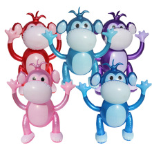 Cartoon Cute Monkey Model Inflatable Colorful Hands-Up Game Props Simulation Animals Kindergarten Activity Decor Accessories