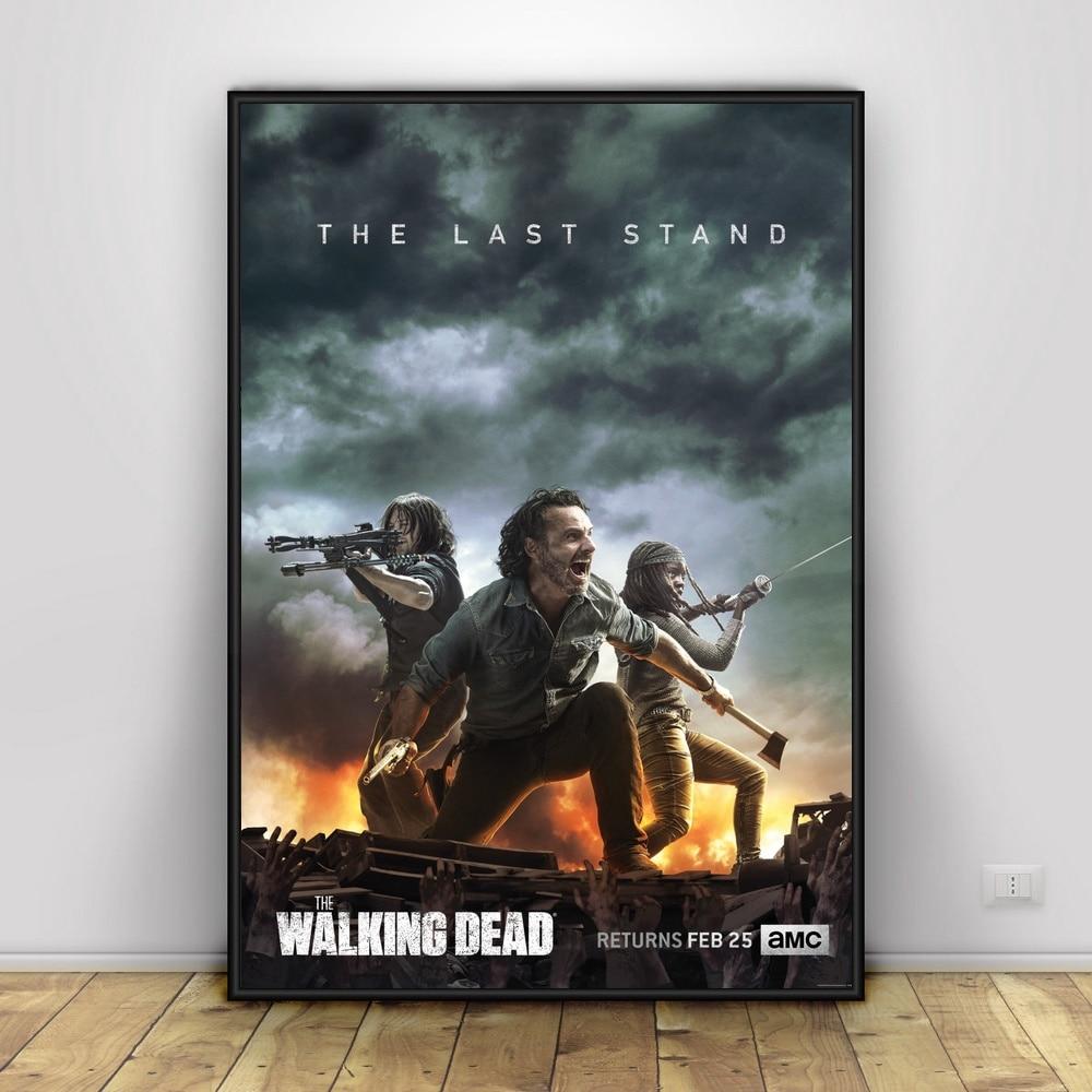 The-Walking-Dead-Art-Silk-Poster-Home-Decor-12x18-24x36inch