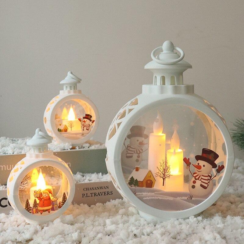 Lanterne lumineuse en forme de bonhomme de neige, décoration pour la maison, père noël, bonhomme de neige, arbre de noël, cadeaux de noël, nouvel an 2021, 2022