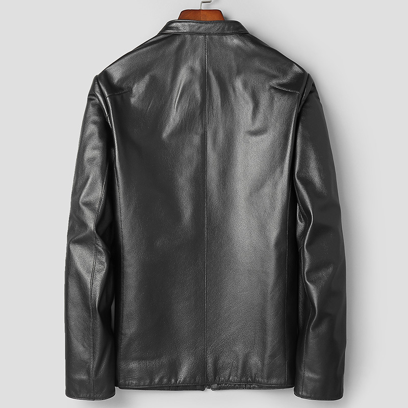 Genuine Leather Jacket Men Spring Autumn Real Cow Leather Coat Leather Jacket Blouson Cuir Homme 81T999 YY287