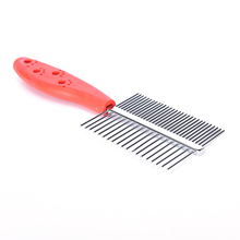 1PC Stainless Steel Anti-static Pets Hair Grooming Comb Two-sized Dense Comb For Dogs Tooth Slicker Brush Pet Grooming Tools