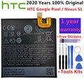 Оригинальный сменный аккумулятор B2PW4100 2770 мАч для HTC Google Pixel / Nexus S1, литий-ионные полимерные батареи, батарея + Бесплатные инструменты