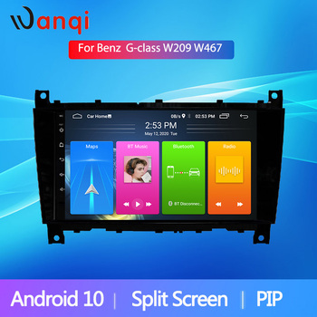 Wanqi Split Screen Android10 Car Audio Navigation Stereo Player GPS For Mercedes Benz G Class CLK W209 W467 WiFi SWC BT NO DVD image