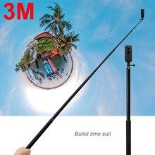 3 м Алюминиевый сплав монопод селфи палка для Insta 360 One X/DJI OSMO Action/Pocket/Gopro Hero 7 6 5 Insta360 аксессуары для камеры
