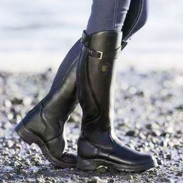 Women's Leather Horse Riding Boots 6
