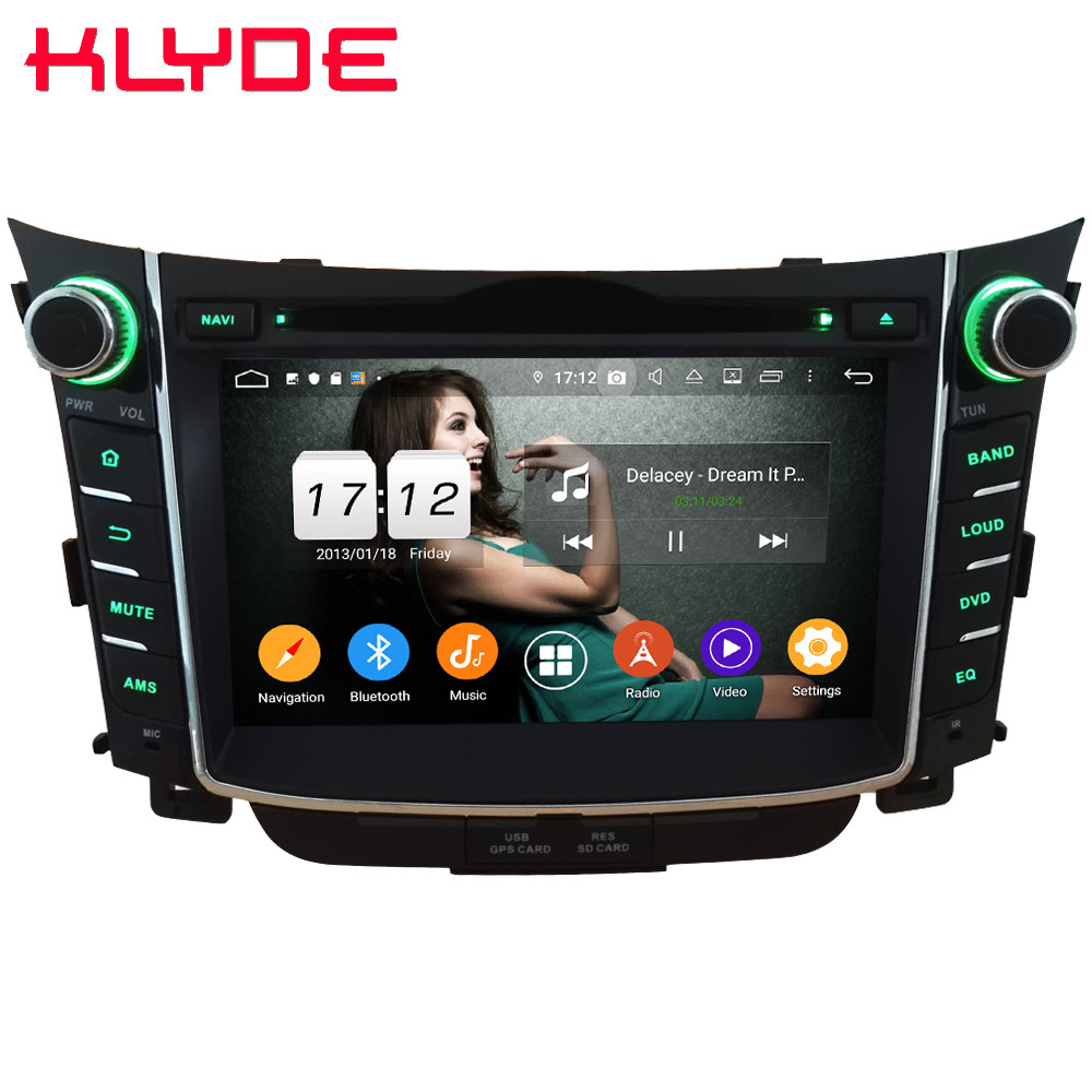 Klyde 4G WIFI Android 9.0 Octa Core 4GB RAM 64GB ROM DSP BT RDS Car DVD Multimedia Player Radio Stereo For Hyundai I30 2011 2016