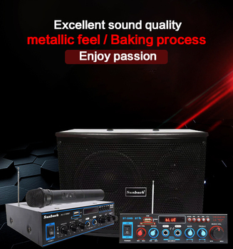 KYYSLB 100W Home Card Package Wood Speaker Conference Dance Room Karaoke OK 6.5 Inch, 8 10 Inch Optional Amplifier - discount item  40% OFF Portable Audio & Video