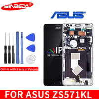Sinbeda AMOLED 5.7For ASUS ZenFone AR ZS571KL LCD Touch Screen withFrame Digitizer For ASUS Zenfone ZS571KL Display ZS571kl LCD