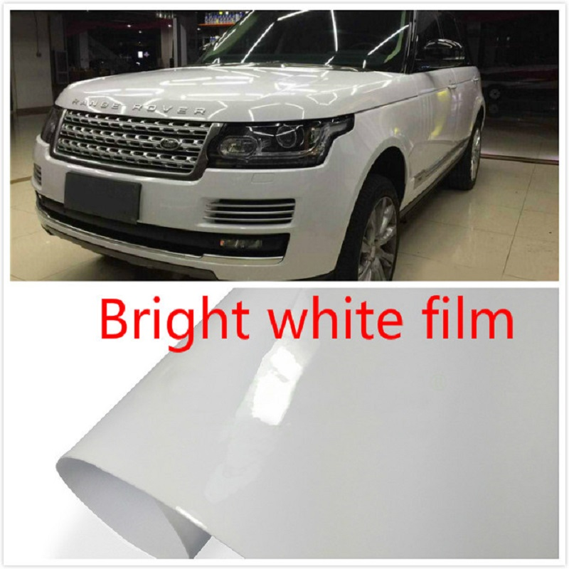 600mmx1520mm  Auto Car Styling Vinyl Film Warp Paper Sticker For Cover Surface Glossy White
