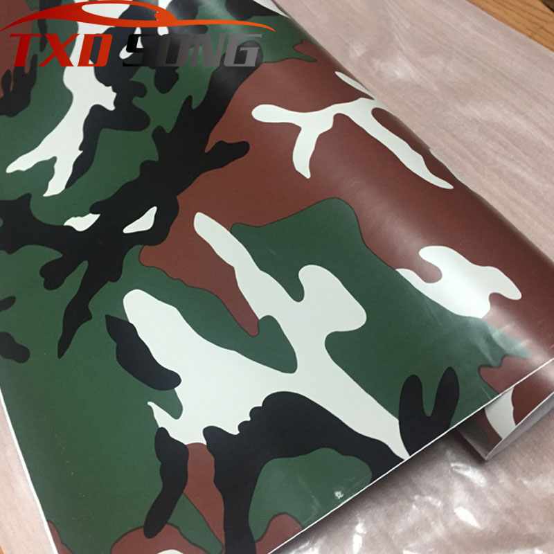 Camouflage Camo Wooland Forest Vinyl Graphic Printed Car Wrap Film Sticker Decal