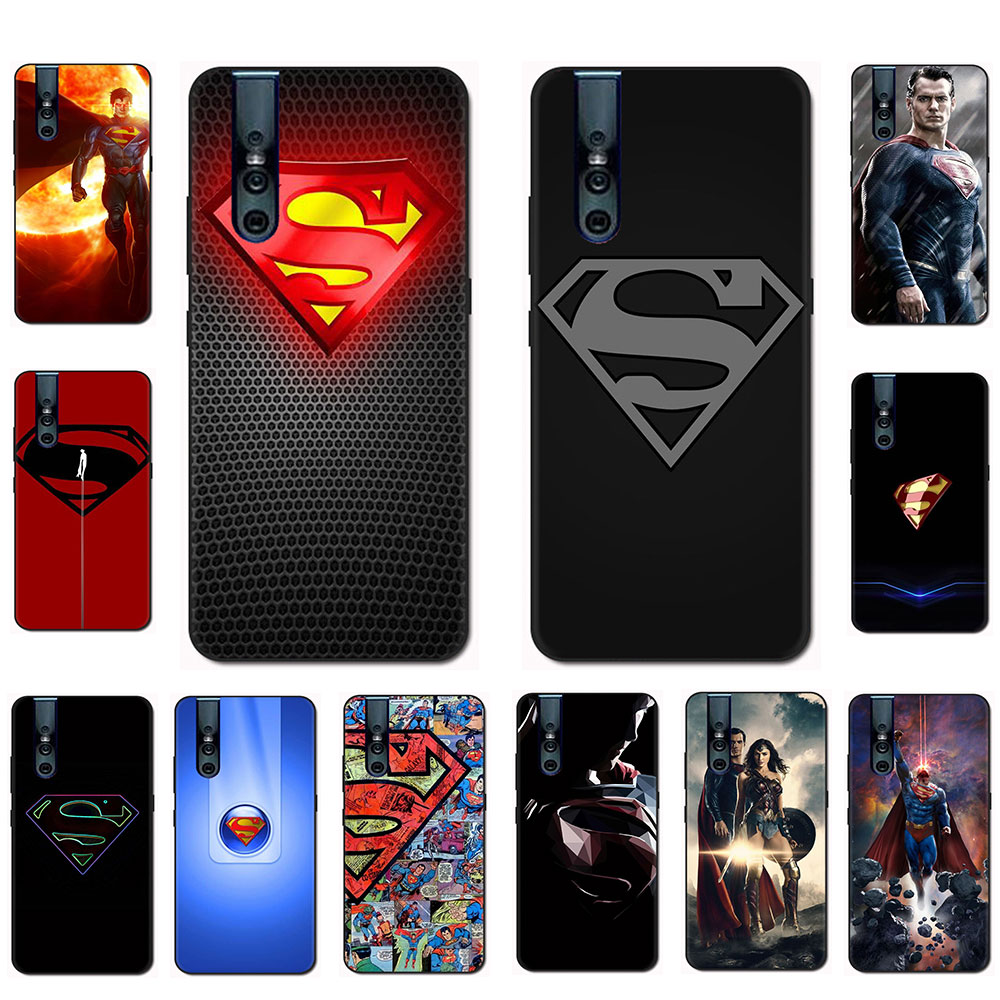 DC Superman Silicone phone <font><b>case</b></font> for <font><b>VIVO</b></font> X30 IQ00 S5 NEX 3 Y11 V15 V11 Pro V9 V7 Y17 Y55s <font><b>Y69</b></font> Y81s Y85 Y89 Y91C Y93 y95 image
