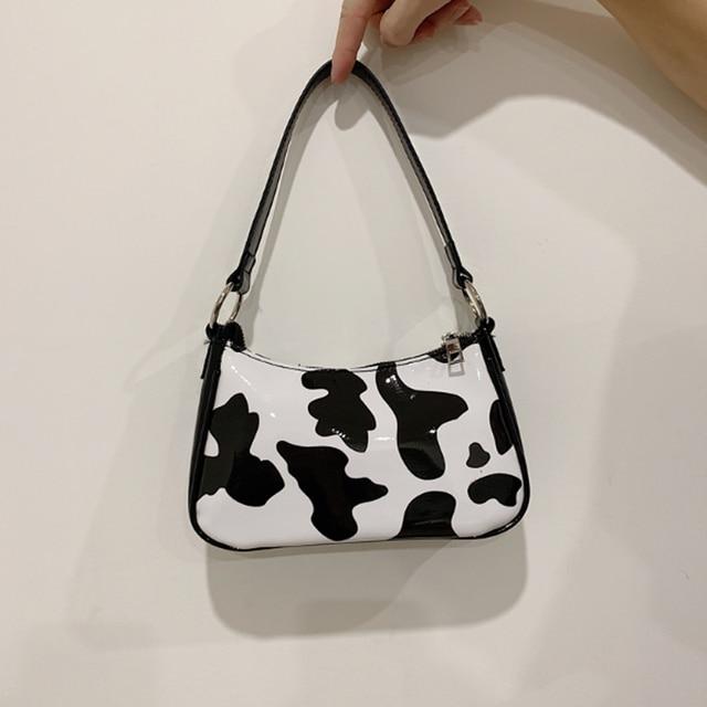 cow pattern baguette bags  for women fashion designer shoulder bags crossbody bag small cute messenger bag handbags and purses 1