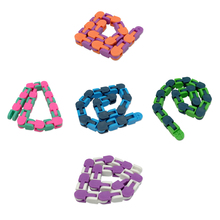 New 48 Knots Wacky Tracks Antistress Chain Toy For Children Bike Chain Stress Relief Sensory Toy Aduls Autism Needs Kids Gifts