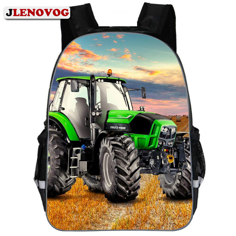 Tractor <font><b>School</b></font> Bag <font><b>For</b></font> Boys Orthopedic <font><b>Kid</b></font> Toddler <font><b>Backpack</b></font> Schoolbag Cartoon Best <font><b>School</b></font> <font><b>Backpacks</b></font> 2019 Schoolbag Ruchsack image