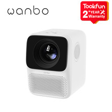 Wanbo – projecteur Portable T2 MAX, Android, 16 go, 1080P, Projection latérale, Mini, quatre voies, Correction de la distorsion trapézoïdale, Home cinéma, Version internationale