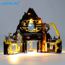 Lightaling Led Light Kit For Garmadon's Volcano Lair Building Blocks Lighting Set Compatible With 70631 ( Lighting Set Only ) lepin nexo knights axl jestros volcano lair combination marvel building blocks kits toys minifigures compatible nexu