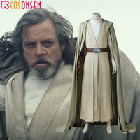 Luke Skywalker Cosplay Star Wars The Last Jedi Costume Adult Halloween Outfit Jacket Cloak COSPLAYONSEN Custom Made