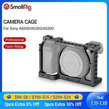 Gaiola da câmera de smallrig para sony a6000/a6300/a6500 ILCE 6000/ILCE 6300/a6500/Nex 7 gaiola da liga de alumínio para montar o monitor do tripé 1661