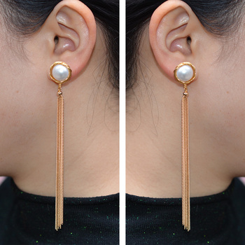 Long Tassel Pearl Earrings 5