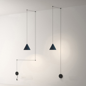 Скандинавский минималистичный DIY светильник для ресторана, современный бар для столовой, креативная линейная лампа, Геометрическая прикро...