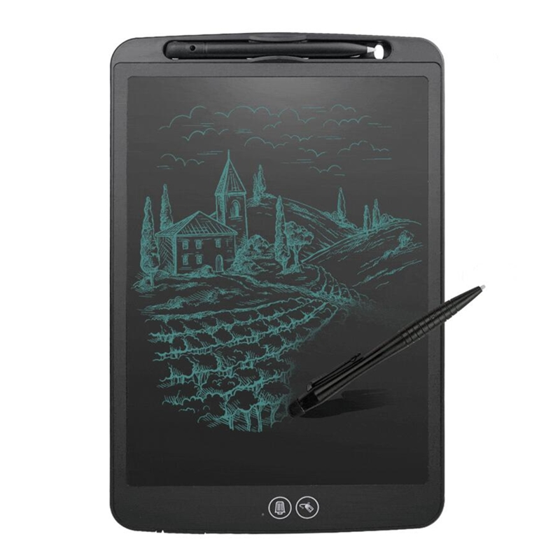 Partial Erase LCD Writing Tablet 12 Inch Lock Key Function Office Supplies Drawing Board Puzzle Graffiti Education Kids Gift