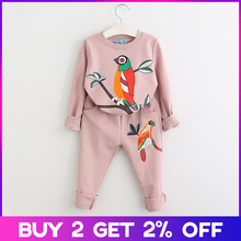 Menoea Clothing Sets New Spring Autumn Girls Clothes Cartoon Pattern T-shirt+Pants for Suits for3-7 Kids Girls Clothes Sets cheap Fashion O-Neck Pullover AZ543-D COTTON Polyester Stretch Spandex NYLON Full REGULAR Fits true to size take your normal size
