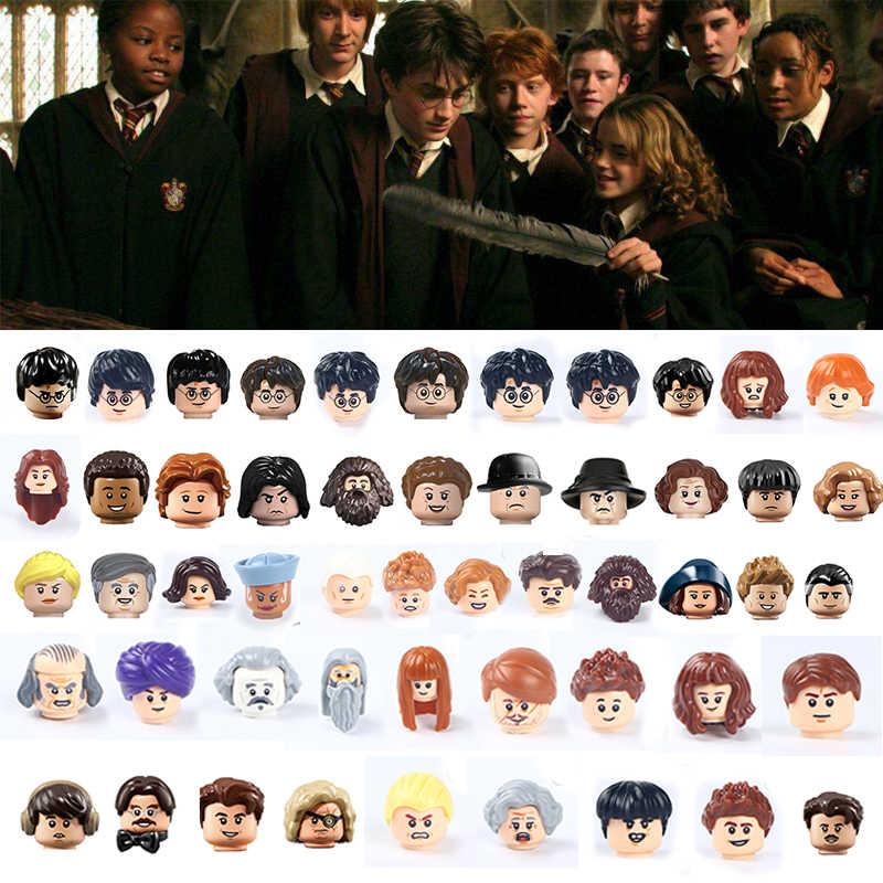 해리 매직 아카데미 시리즈 Hermione 론 빌딩 블록 Voldemort 영화 액션 피규어 헤드 교육 완구 어린이 선물