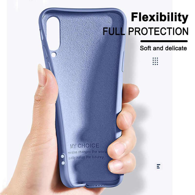 Kasus Silikon Cair untuk Xiao Mi Mi Catatan 10 Pro 9 Se 9T PRO A3 A2 Lite Slim Lembut cover Kasus untuk Red Mi Note 8 Pro 7 8T 7A 8A K30