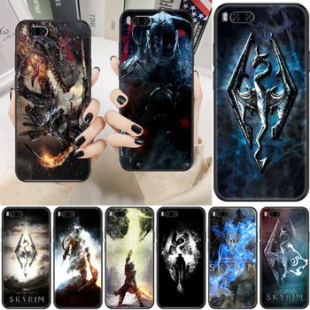 Skyrim Game Phone case For Xiaomi Mi Max Note 3 A2 A3 8 9 9T 10 Lite Pro Ultra black soft back painting Etui pretty cover trend image