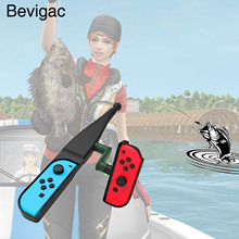 Bevigac 휴대용 이동 sebse 낚싯대 물고기 장대 닌텐도 닌텐도 스위치 조이 콘 콘솔 컨트롤러 게임 액세서리