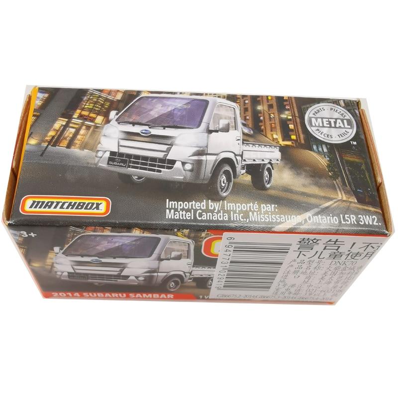2020 Matchbox Cars 1:64 Car 2014 SUBARU SAMBAR Metal Diecast Alloy Model Car Toy Vehicles