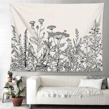 Цветочные растения пейзаж гобелен спальня домашний декор искусство общежития покрывало на стену мягкий колледж складной гостиная скатерть
