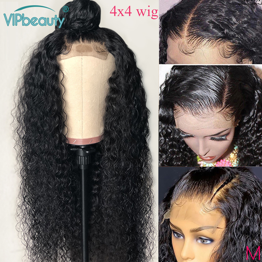 Closure Wig Water Wave Wig Human Hair Peruvian Hair Wig For Women VIPbeauty 150 Remy 4x4 Lace Closure Wig Natural Hair Deep Part