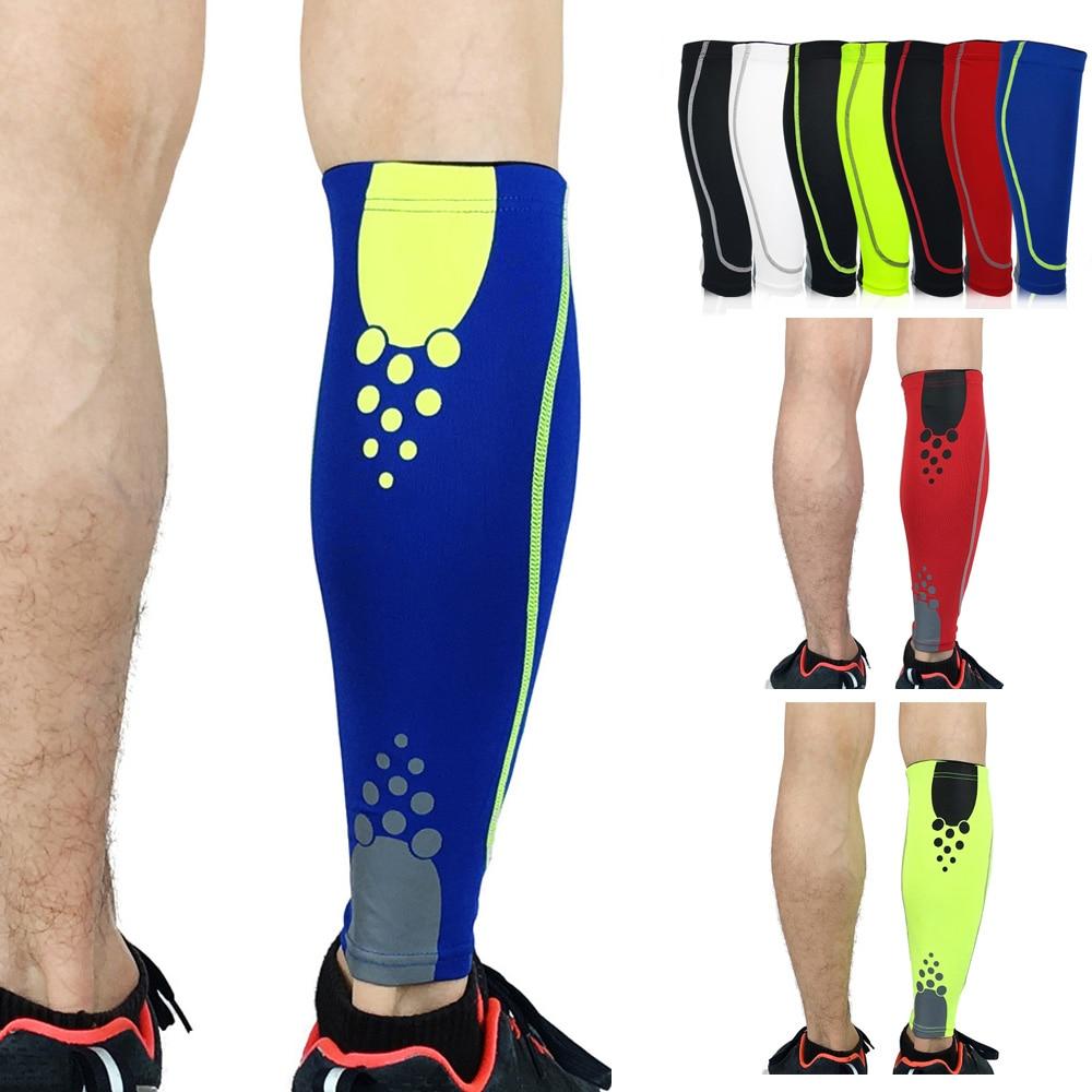 Sports Leg Guard Protection Calf Sleeve Leg Warmers Polka Dots Pattern Fitness