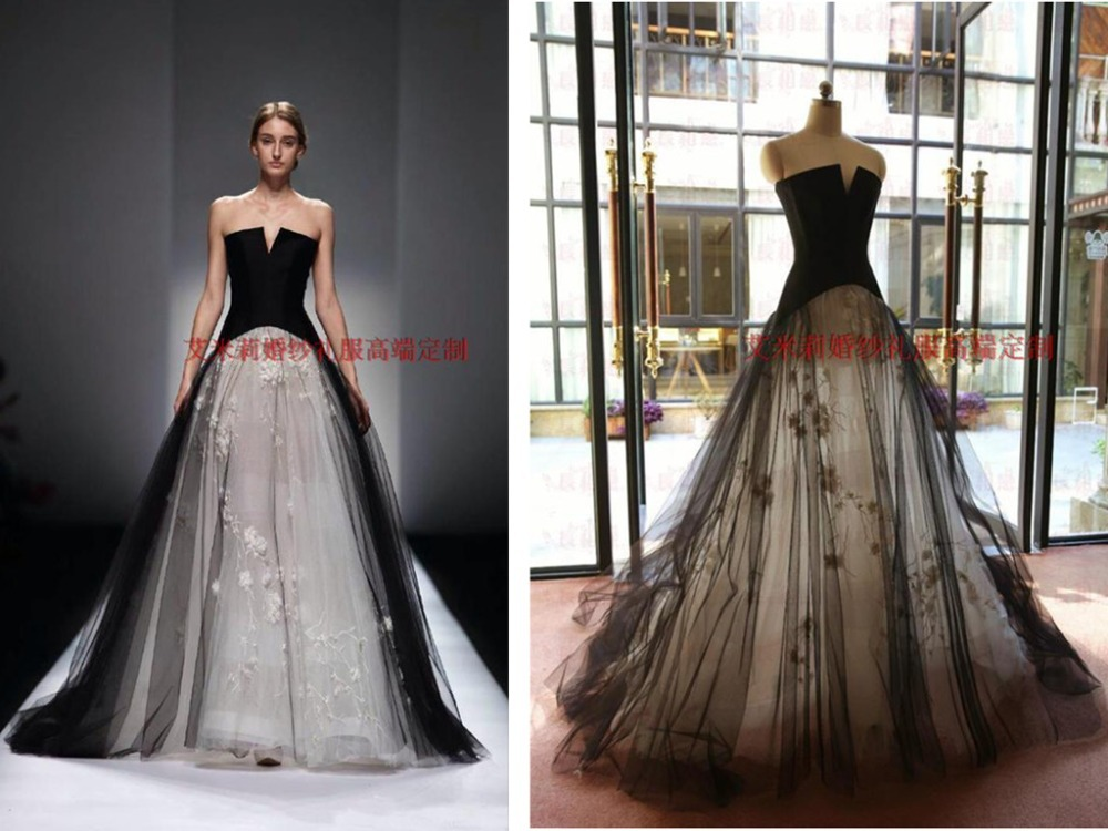 Black And White Tulle Flowers Sexy Long 2018 Vestido De Festa Floor-length Formal Evening Prom Gown Mother Of The Bride Dresses